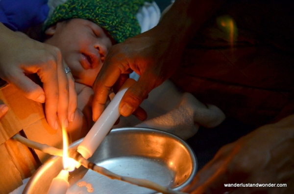Cord Burning Ceremony at Bumi Sehat Ubud Indonesia