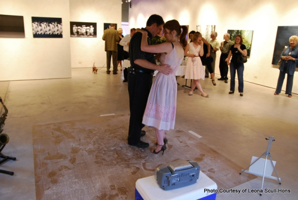 Artist Leona Scull-Hons in the Gallery