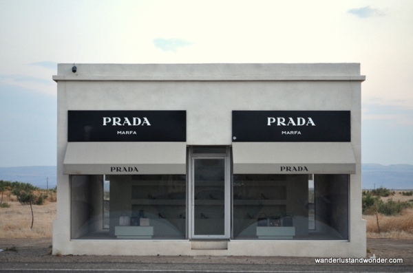 The Prada Marfa Artwork, Marfa, Texas