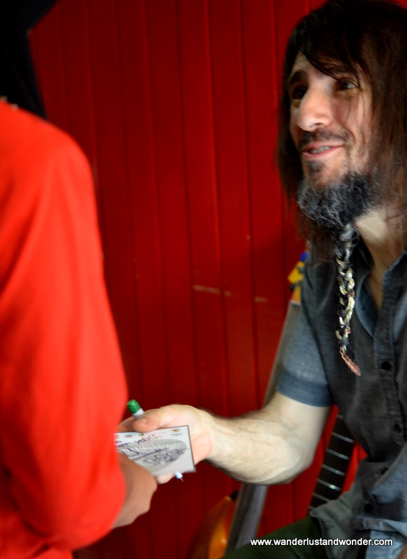 When his mini concert was over he signed autographs for every child (and grown up) who wanted one.