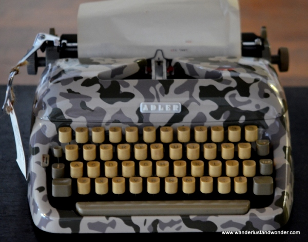 An example of a customized vintage typewriter.  How cool is this?