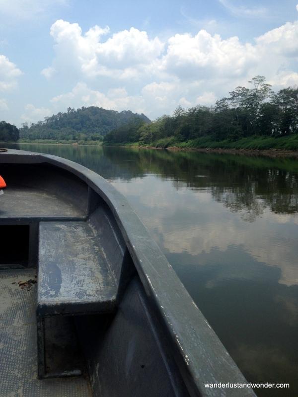 Boat ride Borneo