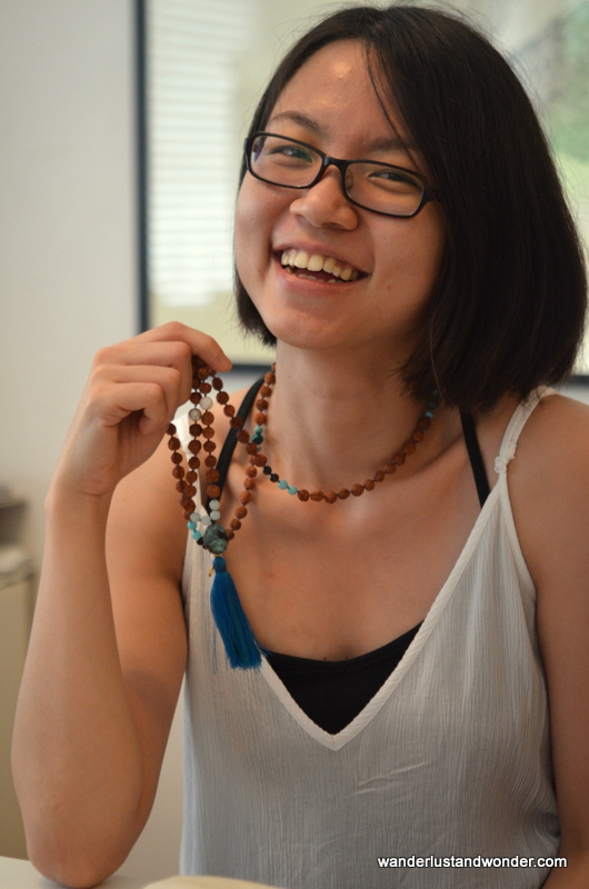 Khim with her beautiful mala.