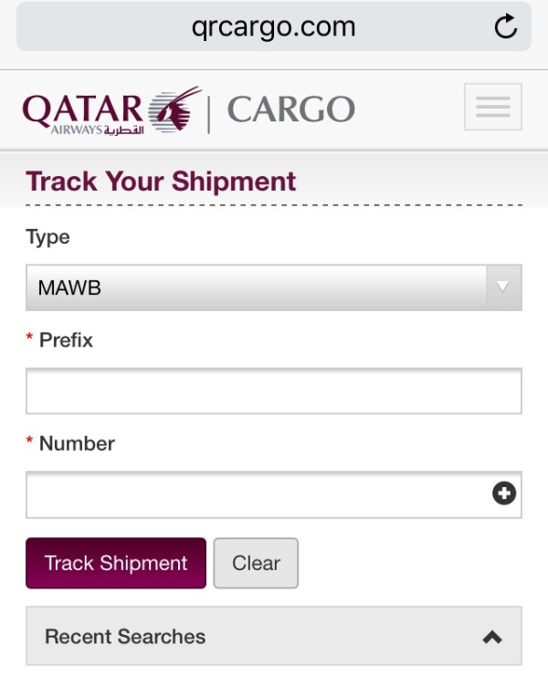 Air Cargo tracking provides peace of mind.